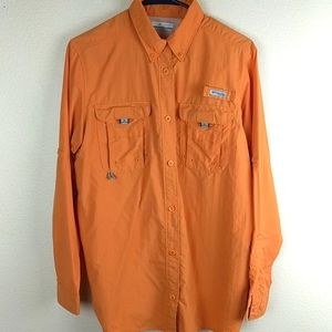 Columbia orange size medium sport shirt